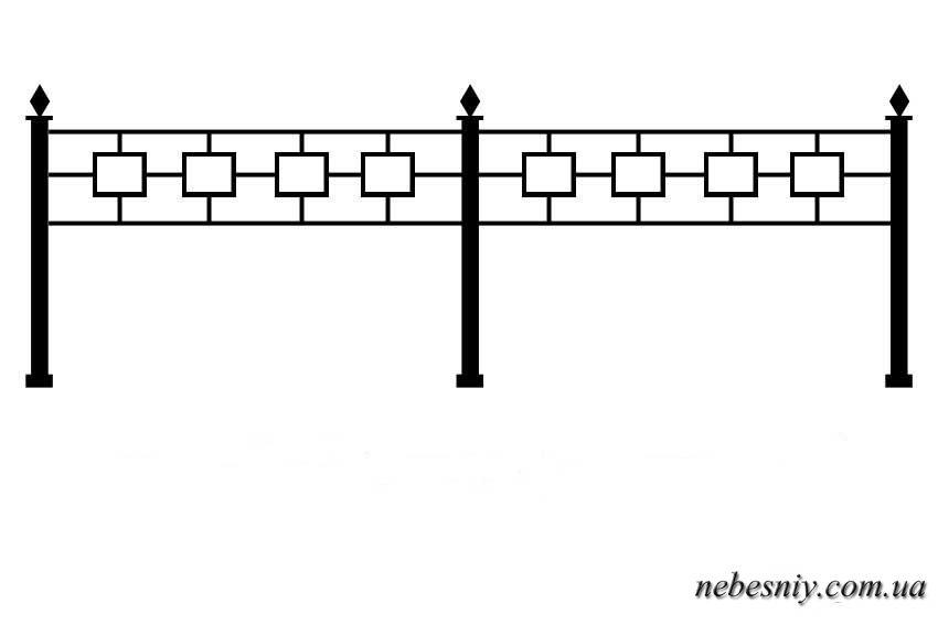 Оградка на могилу своими руками чертежи 3 на 3 56