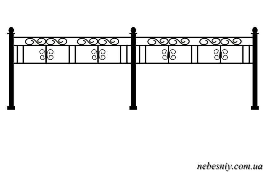 Оградка на могилу своими руками чертежи 3 на 3 45